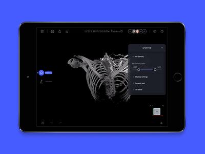 3Dicom - Medical Image Viewer ui app ux design product design