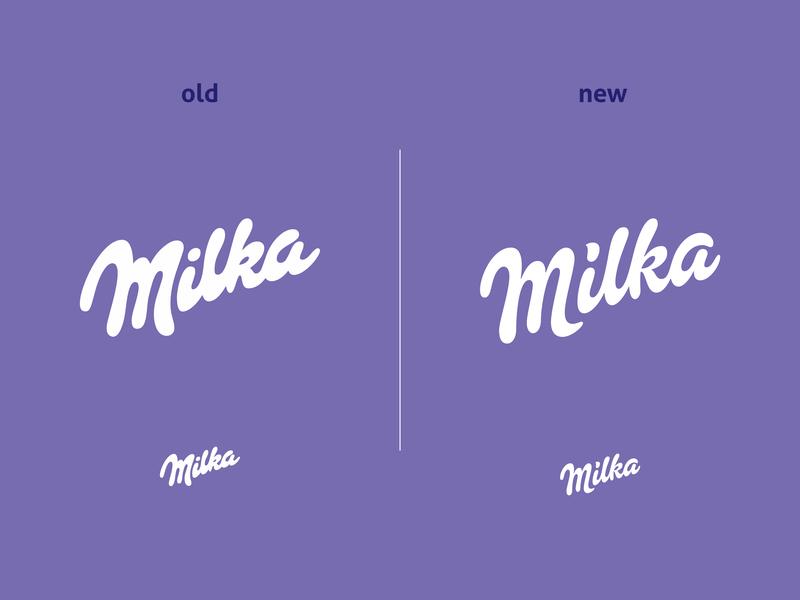 Milka ReDesign food milk typogaphy typo lettering design logo chocolate milka