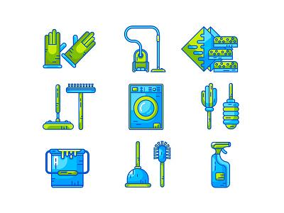 Household icos Full Set mobile web utensil vector housekeeping tools household icons set icons