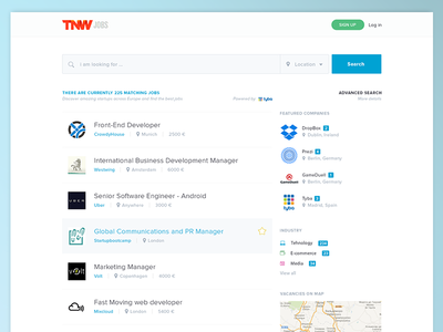 TNW Jobs main page