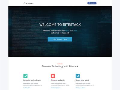 Ritastack landing page