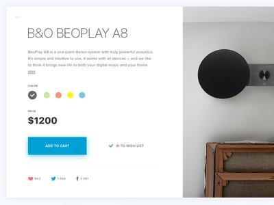 B&O product page
