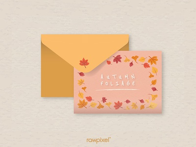Autumn Foliage : Postcard