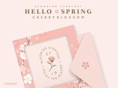 Hello Spring : Postcard