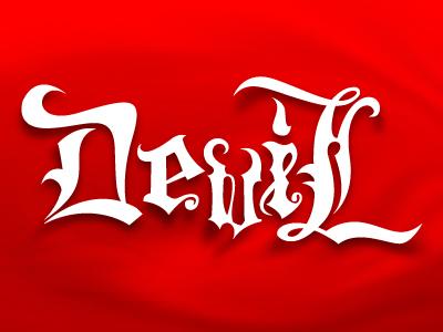 Devil red devil typography experiment