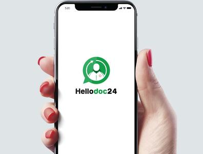 hellodoc 24 Logo Design