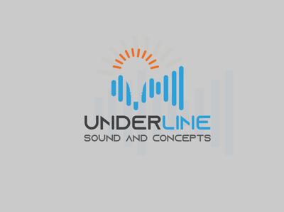 Under Line Sound And Concept Logo