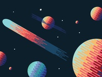 Space illustration Design