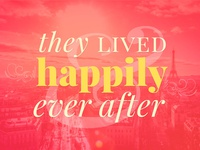 ...and they lived happily ever after