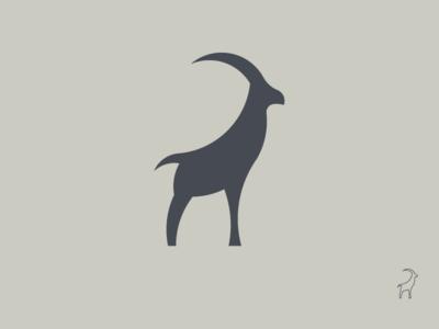 Goat. branding illustration mark logo vector