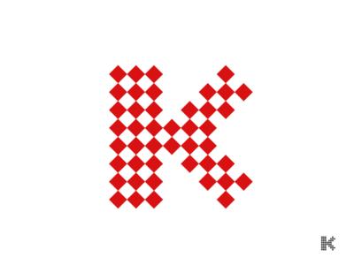 K. branding design branding typography design mark logo illustration vector