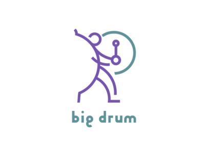 Big Drum. branding design icon mark logo illustration branding vector