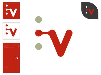 Verb. branding design icon design mark logo illustration branding vector