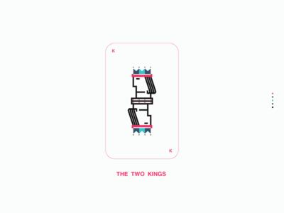 THE TWO KINGS. web design icon design mark branding design logo illustration branding vector