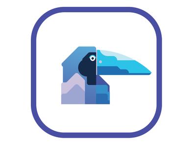 Parrot branding illustration design branding design icon mark vector logo