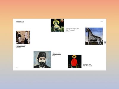 Pirosmani design web typography ui ux illustration vector