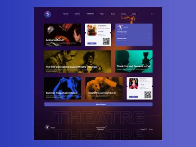 Puppet Theatre. abstract vector branding web app icon ux ui design