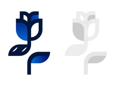 Blue Flower. abstract icon design branding design mark logo branding vector