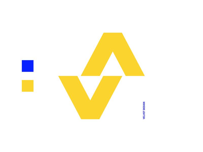 Velvet. icon illustration design vector branding mark logo blue velvet