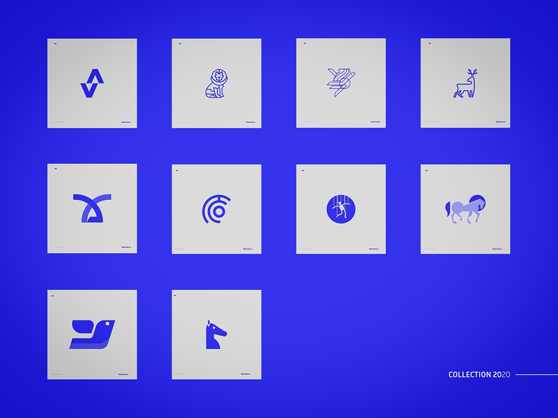 Logos Collection icon typography design mark logo vector illustration branding design branding
