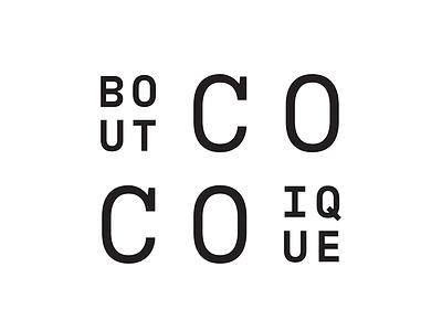 Coco Boutique graphic design logo identity