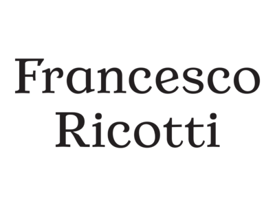 Francesco Ricotti fashion type design custom type logotype logo