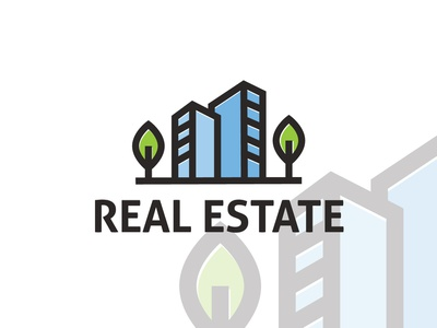 Real Estate Logo insurance house hotel home development develop custom construction city building architecture apartment agent modern simple logo real estate