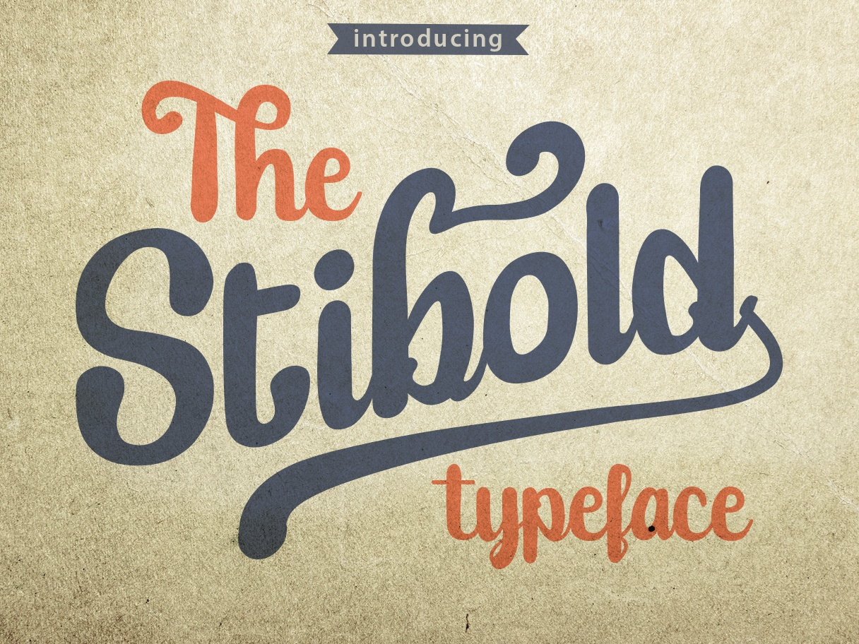 Stibold Unique Font free font custom font handmade font designer bold font lettering script bold opentype brush font fun logotype font design modern