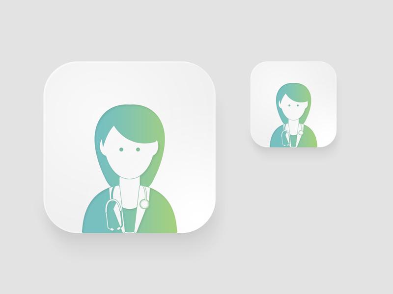 Icon Professions lettering type animation web app branding ux icon typography ui logo illustration