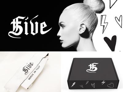 5Five Fashion vector creativedirection creative design type logo design creative brand identity branding graphic design