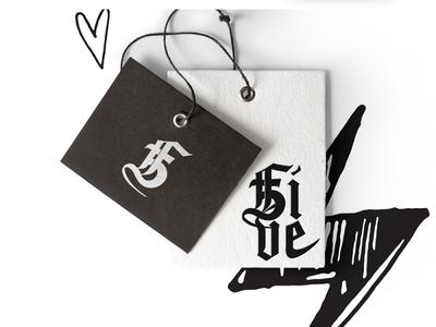 5Five Fashion Tags illustration art direction vector creative design typography type logo brand identity branding graphic design