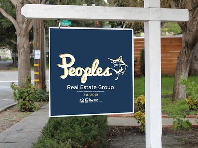 People's Real Estate Sign realestate logo design art direction creative design wayfinding graphic design environment design signage branding