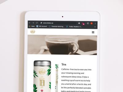 Brew by Cannara web development digital medicine food graphic design international canada cbd design website design website