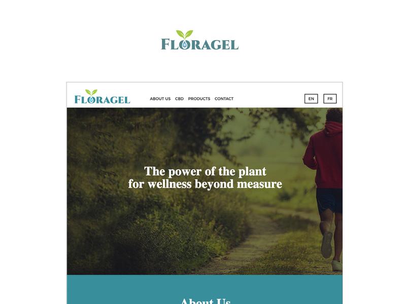Floragel Website web development uxui design international canada cbd art direction creative microsite seo services digital graphic design web design website