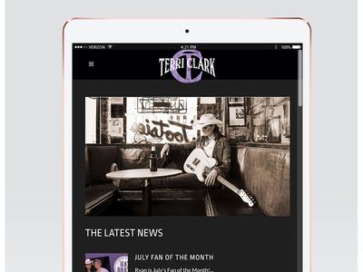 Terri Clark Website user experience userinterface graphic design music industry music website country music music development web design website