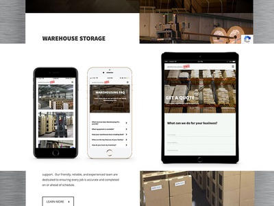 Warehousing Pro Website seo design industrial development graphic design user interface user experience website design website