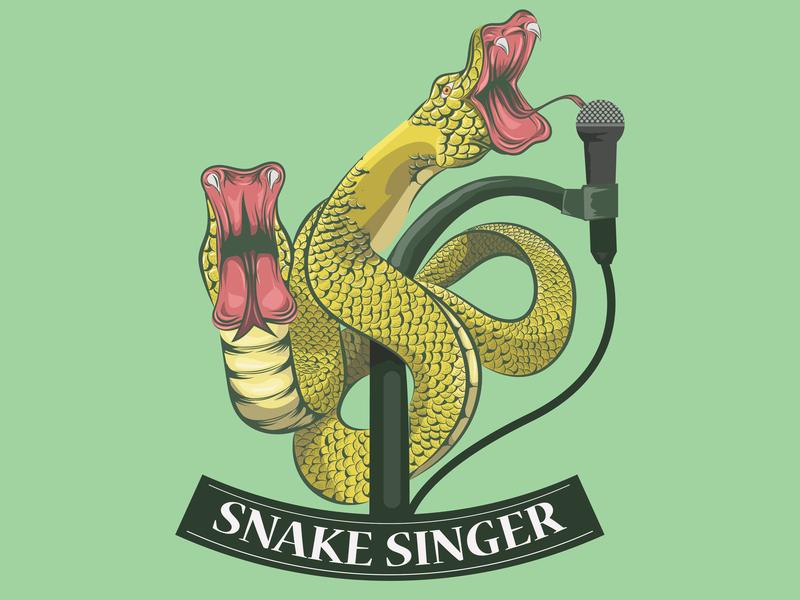 Snake Singer logo art inspiration logo design symbol inspiration amazing logo symbol beer pub vintage vintage art singer snake snake logo snakes vector logo icon vector art illustrattion branding art animal