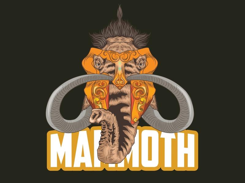 Mahmoth Esport logo icon elephant logo clasic esportlogo typography vector illustration design amazing logo vector art branding animal