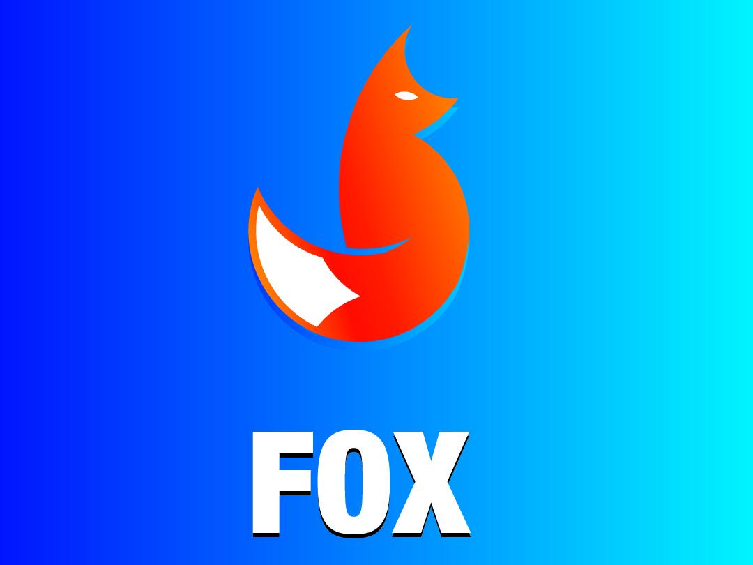 FOX Logo foxy icon logo vector fox logo minimal illustration