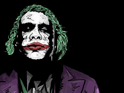 The Joker Illustration heath ledger the dark knight fan art the joker actor character movies digital drawing illustration batman joker