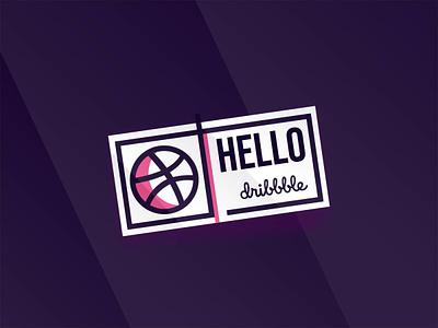 Hello Dribbble ! :) typorgraphy type hello dribbble hello world logo a day icon branding logo first design first shoot design first shot hello debut