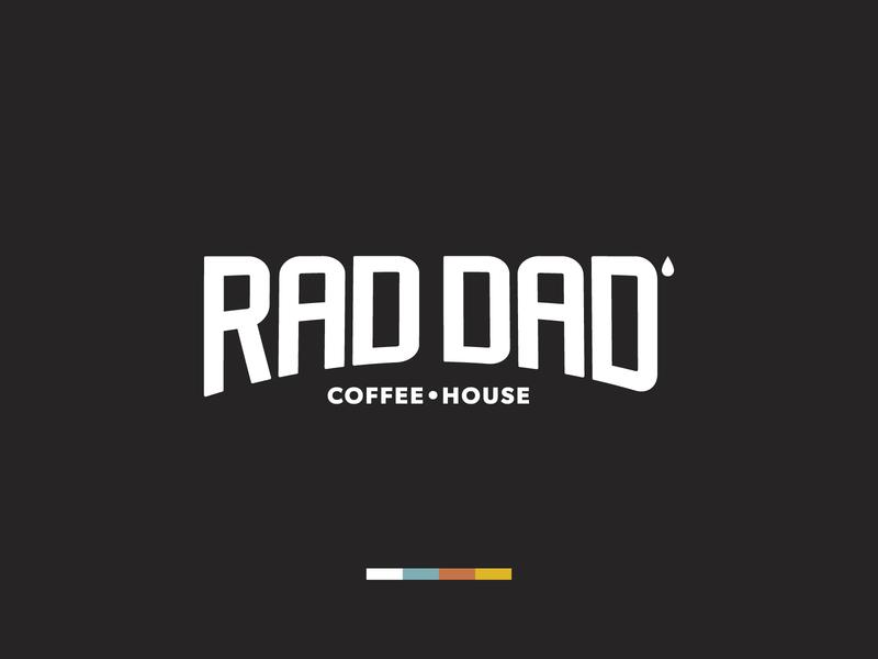 Rad Dad Coffee House logotype brand designer brand design brand dad coffee cup coffeeshop coffee branding typography logo design design vector logo illustration graphic design