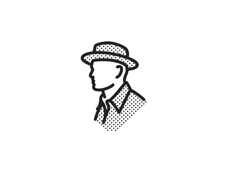 Portrait grant mortenson portrait art portrait person man icons logo logo design icon design vector illustration graphic design