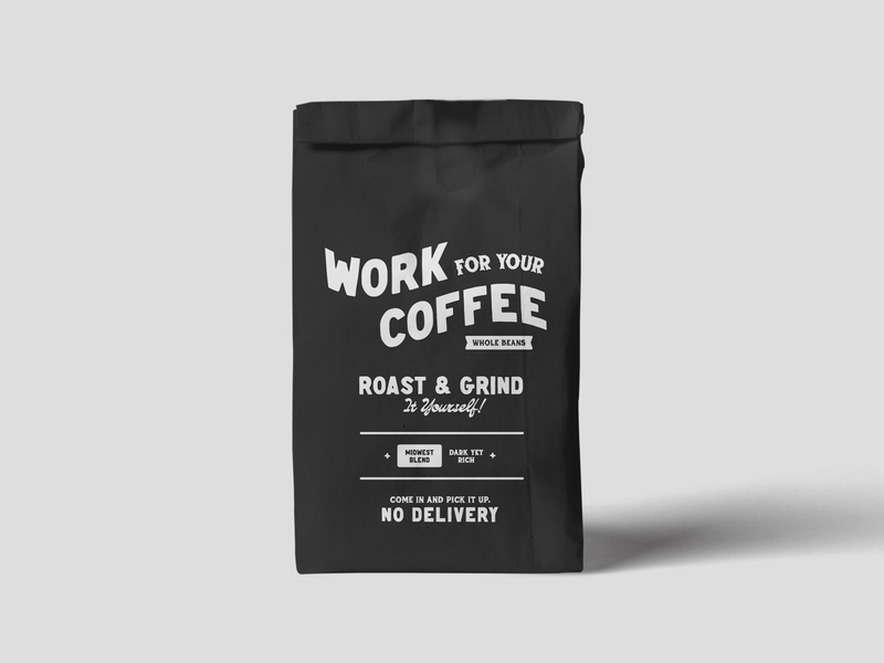 Work For Your Coffee Packaging packaging packagingdesign coffee badge design icon typography logo design logo design vector illustration graphic design