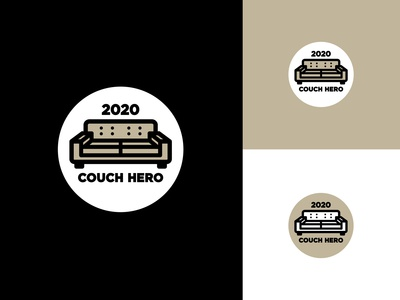 Couch Hero 2020 stay home stayhome hero coronavirus covid-19 covid19 couch badge design branding typography logo design icon logo design vector illustration graphic design