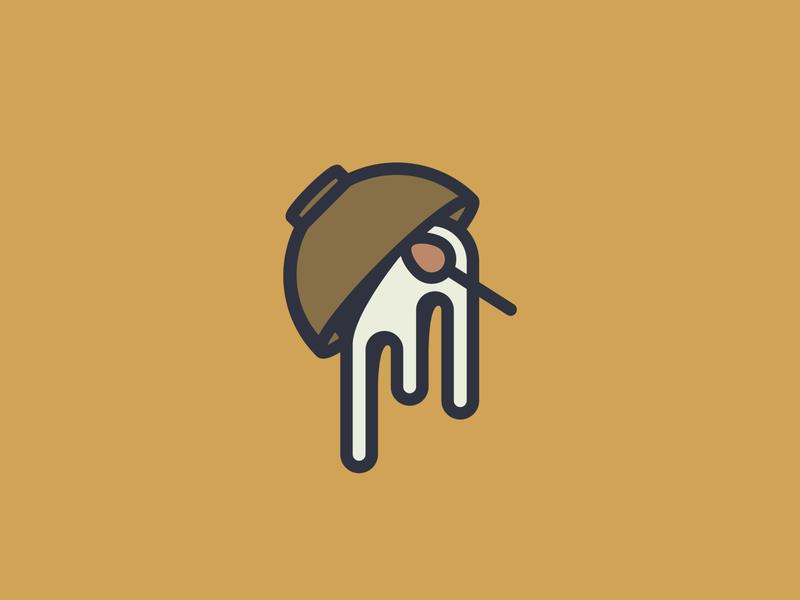 Spilled Soup social media logomark grant mortenson logo badge bowl spoon soup spilled icon logo design vector logo design illustration graphic design