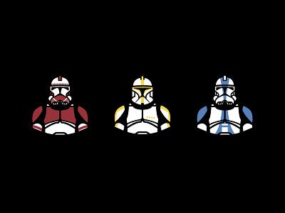 Troopers illustrator icon stars storm trooper stormtrooper battlefront phase 2 clone trooper clone wars clone trooper starwars star wars icons design illustration vector graphic design