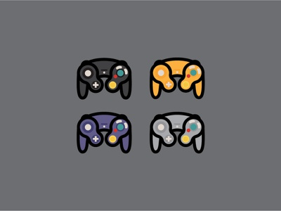 Controller illustration vector illustration illustrator design fun button pixel art pixel retro lineart vector game gameboy zelda mario handheld controller nintendo gamecube videogames