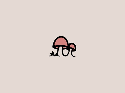 Nature 1 plants drawing pink mushroom hiking hike outside nature plant branding icons logo design icon design logo vector illustration graphic design