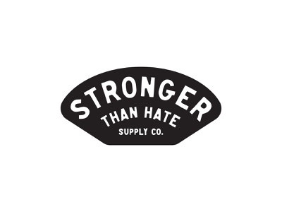 Stronger Than Hate Supply Co. procreate sketch tough black and white black black  white hate strong tools icons typography logo design icon logo design badge design graphic design illustration vector branding